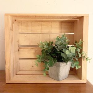 Like New Small Wooden Storage Crate